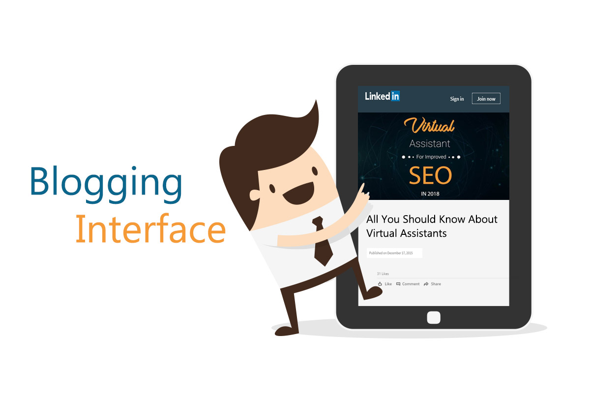 Blogging Interface LinkedIn New Features