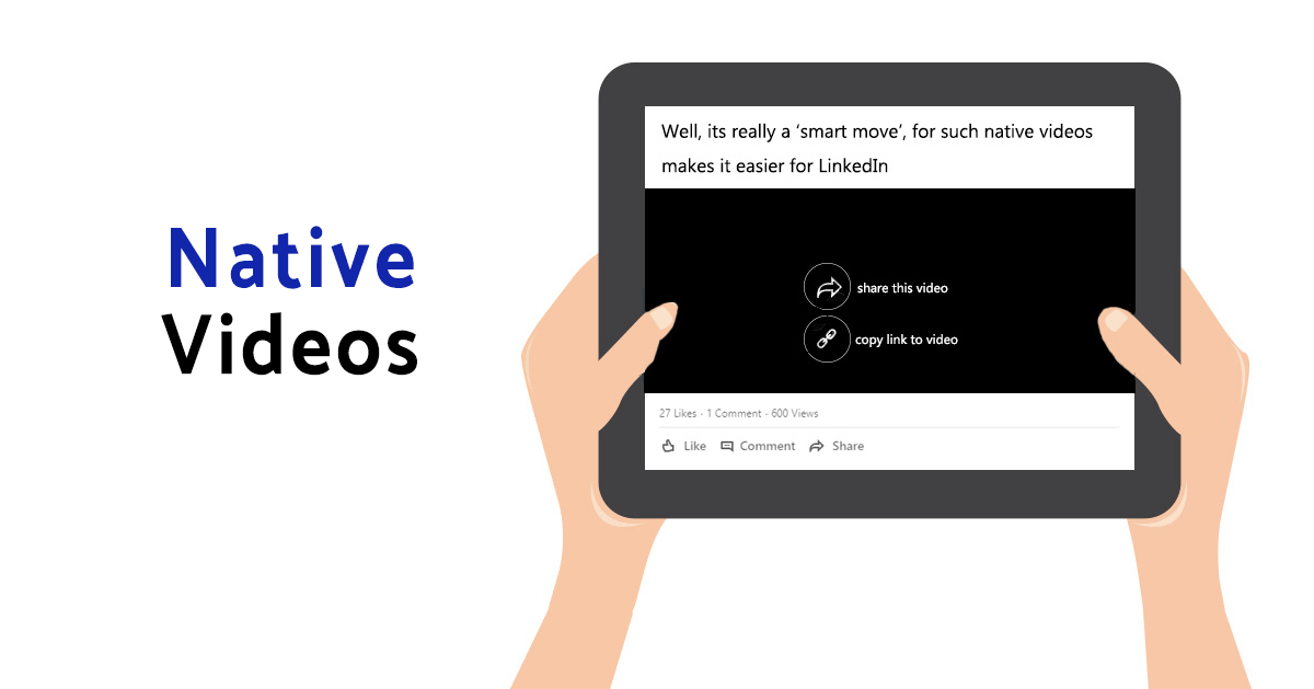 native videos LinkedIn New Features